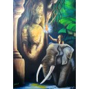 Ztracený chrám, Olej na plátně, 50 x 70 cm
