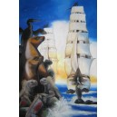 Galapágy, Olej na plátně, 90 x 140 cm