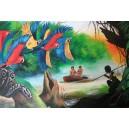 Amazonka, Olej na plátně, 80 x 50 cm