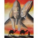Faraoni, olej na plátně, 100 x 80