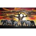 Velikáni Afriky, olej na plátně, 160 x 100